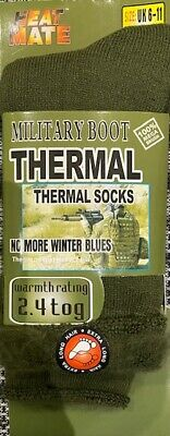 3 Pairs Of Men's Army Socks, 2.4 Tog Thermal Long Military Boot Socks, Size 6-11 • 10.95£