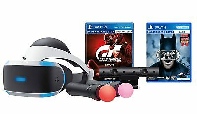 AU636.36 • Buy Sony PlayStation 4  VR Bundle, Gran Turismo + Batman PS4 Move Controller Camera