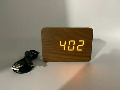 £11.95 • Buy Alarm Clock Wooden.LED Multiple Display Modes.Temperature/Year/Month/Date NEW