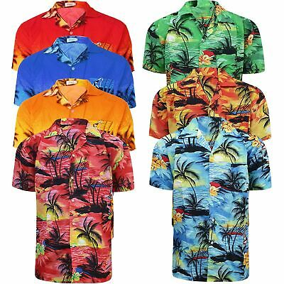 £7.49 • Buy Mens Hawaiian Shirt Floral Palm Tree Sunset Surf Beach Party Holiday Stag Dance