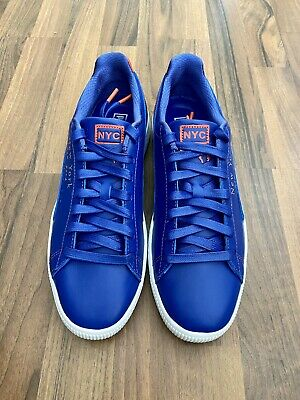 Rare Puma Flagship Exclusive Clyde Nyc Blue Orange Sneaker Shoes Sz 13 New York • 103.64£
