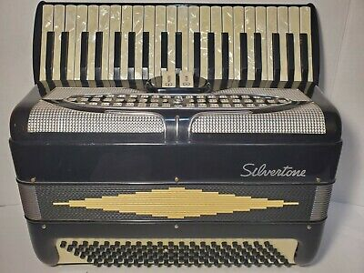 $ CDN359.95 • Buy Silvertone 120 Bass Piano Accordion Made In ITALY With Case - Excellent Cond.