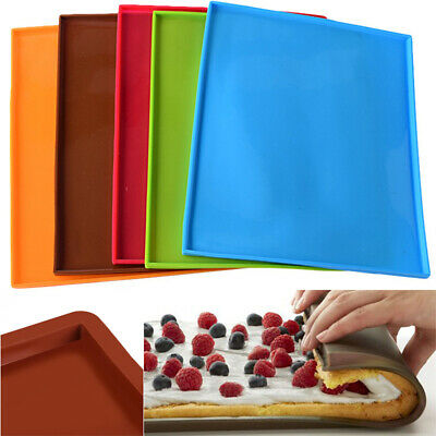Silicone Baking Mat Tray Liner Swiss Roll Cake Mould Mold Pastry Work Sheet UK • 5.85£