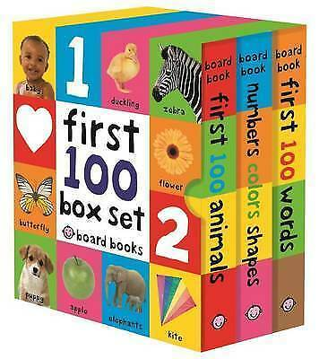 £8.90 • Buy First 100 Board Book Box Set (3 Books) By Roger Priddy (author) #55672 U