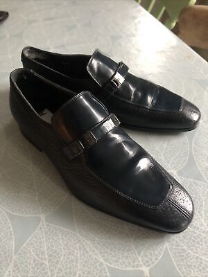 Russell And Bromely Moreschi Mens Italian Slip On Loafer Blue  Shoe Size UK 6.5 • 90£