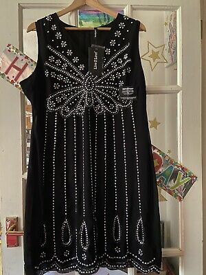 £25 • Buy SEQUIN BEADED EMBELLISHED 1920s FLAPPER CHARLESTON PARTY DRESS NEW WTags Size 20