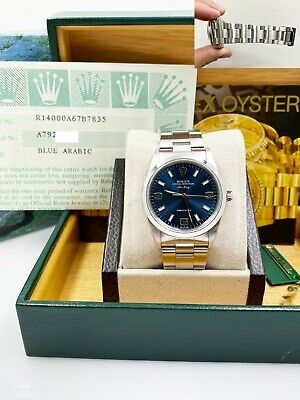 $ CDN6575.31 • Buy Rolex Air King 14000 Blue Dial Stainless Steel Box Papers