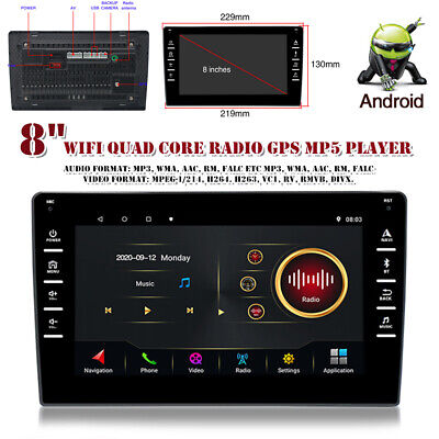 $124.79 • Buy 8  Car Player Android 9.1 Stereo GPS Navi MP5 Double 2 Din WiFi Quad Core Radio