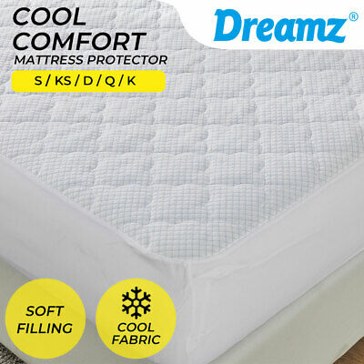 AU44.99 • Buy Dreamz Mattress Protector Topper Cool Fabric Pillowtop Waterproof Cover Underlay