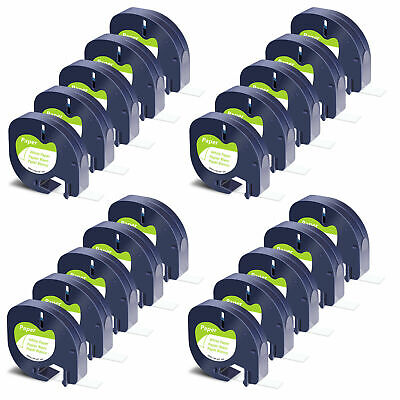 £2.85 • Buy Compatible With Dymo LetraTag Refill White Paper 91200 Label Tape 12mm LT-100H