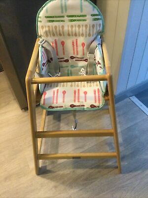 £23.50 • Buy Wooden High Chair By East Coast