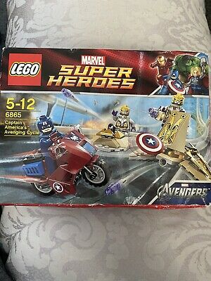 New And Sealed Lego Marvel Super Heroes 6865 Captain America's Avenging Cycle • 14.99£