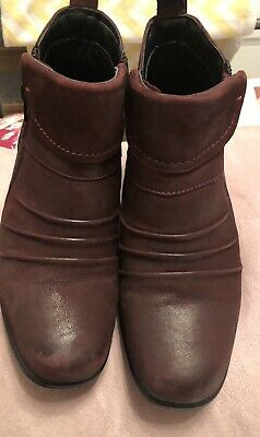 Ladies Leather Ankle Boots Size 5 • 15£