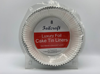 £7.95 • Buy  Foil Cake Tin Liner. Round. Pack Of 8. 6.5'' X 2.5''. NEW In Pack