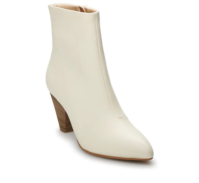NWT Women's Apt. 9 Century High Heel Ankle Boots Choose Size Ivory • 21.90£