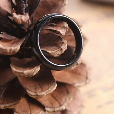 AU3.70 • Buy 2Pcs Unisex Natural Black Magnetic Hematite Rings Wedding Party Jewelry Gifts