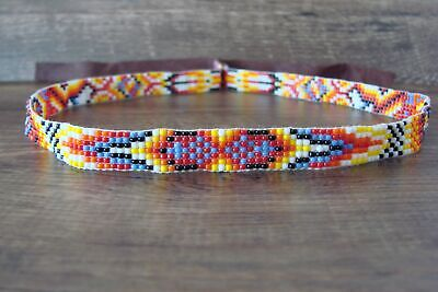 £21.55 • Buy Native American Jewelry Hand Beaded Hat Band By Jacklyn Cleveland
