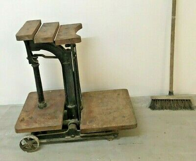 £150 • Buy Victorian Antique W&T Avery Cast Iron Industrial Weighing Scales - Upcycle Idea