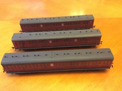3 X Hornby OO BR Ex LSWR Coaches Weathered • 135£