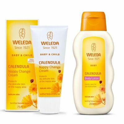£12.90 • Buy Weleda Calendula Baby Nappy Change Cream & Body Lotion Moisturiser