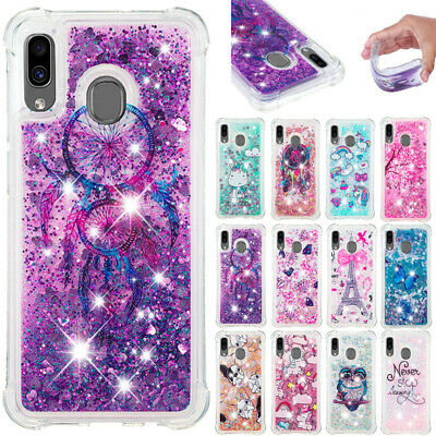 AU14.89 • Buy For Samsung S21 S20FE A31 Patterned Shockproof Glitter Quicksand TPU Case Cover