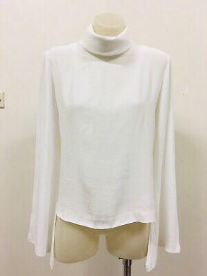 AU65 • Buy VIKTORIA & WOODS White Collared Blouse Flared Long Sleeves Ladies Size 0 / 8