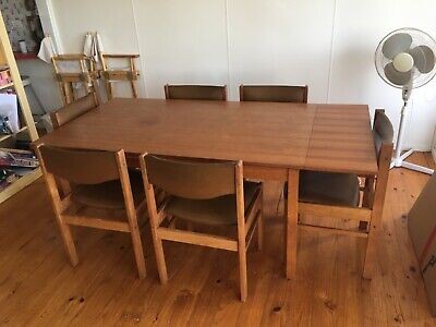 AU180 • Buy Retro Vintage Expandable Dining Table And Chairs