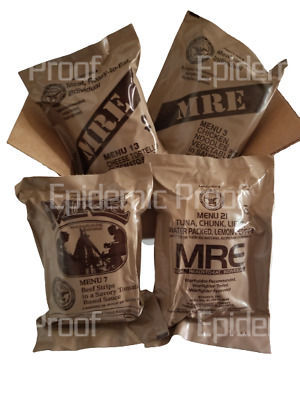 $38.99 • Buy 4 MRE Sampler Box [2022 Inspection Date] AUTHENTIC US MILITARY MEAL READY TO EAT