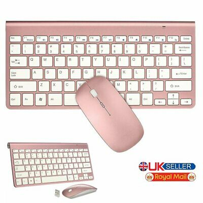 Wireless Mouse And Ultrathin Keyboard Set 2.4GHz For Apple I-Mac Computer PK UK • 23.99£