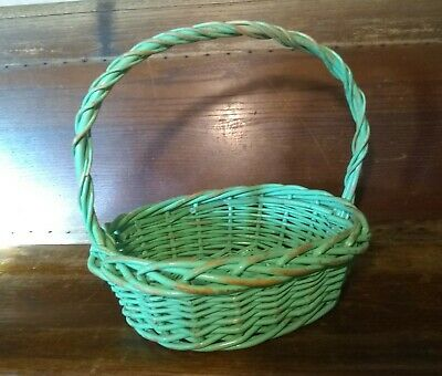 £2.90 • Buy Large Wicker Basket With Rustic Antique-Style Finish