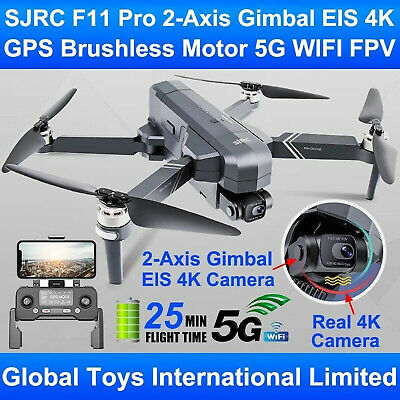 AU426.89 • Buy SJRC F11S 4K Foldable Brushless GPS FPV RC Drone Pro 2-Axis Gimbal EIS Camera