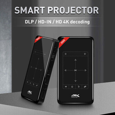 AU296 • Buy 4K 3D Full HD Smart DLP Mini Projector LED Android WiFi 1080P Home Theater HDMI