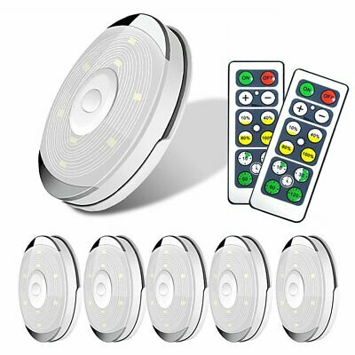 6X Kitchen LED Cabinet Lights Under Cupboard Night Lamp Dimmable Remote Control • 16.99£