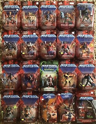 $815 • Buy MOTU, He-Man Figures Lot Of 20, Masters Of The Universe, 200x, MOC Sealed, MISB