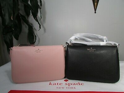 $ CDN120.71 • Buy NWT Kate Spade Leather Jackson Triple Gusset Crossbody Bag
