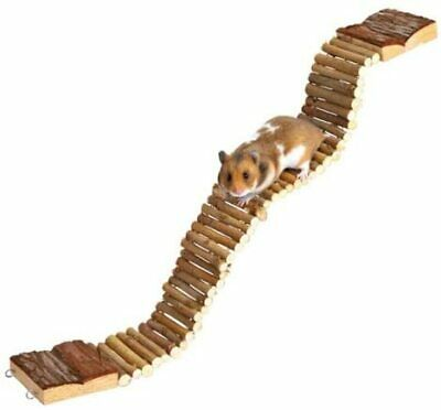 Pet Ting Natural Small Animal Toys Accessories Wooden Treat Mouse Hamster Rat • 11.25£