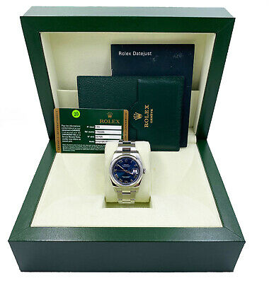 $ CDN8853.57 • Buy Rolex Datejust 116200 Blue Dial Stainless Steel Box Papers