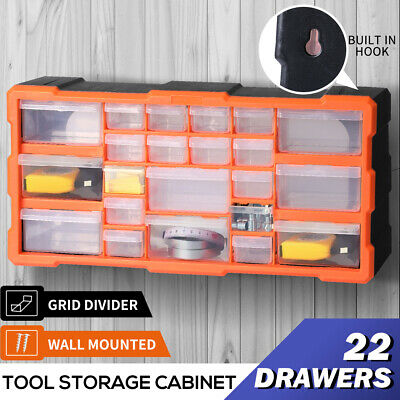 AU32.99 • Buy Tool Storage Cabinet Organiser Drawer Bins Toolbox Part Chest Divider 22 Drawers