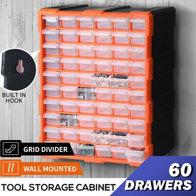 AU41.99 • Buy Tool Storage Cabinet Organiser Drawer Bins Toolbox Part Chest Divider 60 Drawers