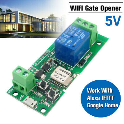 AU21.26 • Buy W/ Alexa & IFTTT Google WiFi Remote Garage Door Gate Opener Controller