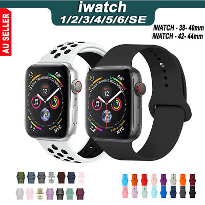 AU9.99 • Buy For Apple Watch IWatch Series 65432 Silicone Replacement Strap Band 38 40 42 44m