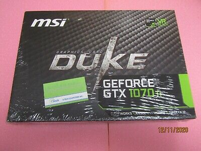 $ CDN893.12 • Buy 912-V330-255 – MSI GeForce GTX 1070 Ti Duke 8G 8GB GDRR5 VR Ready Graphics Card
