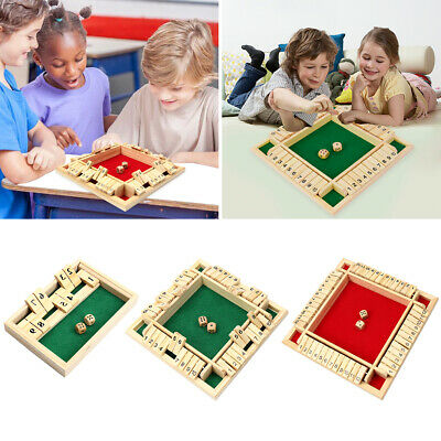 £11.49 • Buy Kids Children Board Games Shut The Box Family Wooden Traditional Pub 2/4 Players