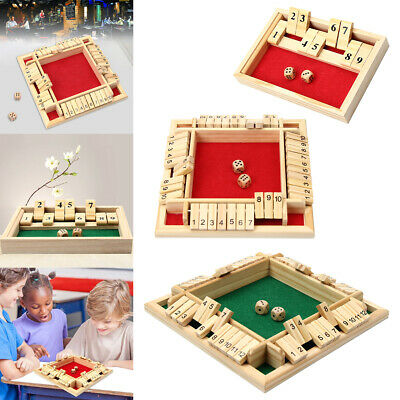 £11.28 • Buy 2/4 Players Shut The Box Wooden Traditional Pub Dice Family Kids Children Gaming
