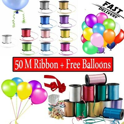 $3.51 • Buy 50 M Curling Balloon String Colour Ribbon Balloons Weight Gift Decoration Fancy