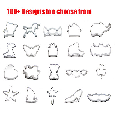 AU4.99 • Buy 100+ Variety Designs Shapes Biscuit Cookie Cutters Decor Kitchen Culinary Tool