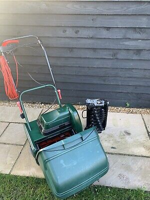 """ATCO Windsor 12"""" Cylinder Elecrtic Lawn Mower With Scarifying Cassette • 130£"""