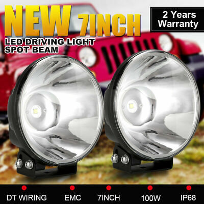 AU78.91 • Buy Pair 7inch OSRAM SPOT LED Driving Lights Headlights REPLACE HID XENON Cable Kit