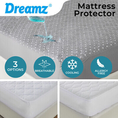 AU40.99 • Buy Dreamz Mattress Protector Topper Bamboo Pillowtop Waterproof Cover Underlay