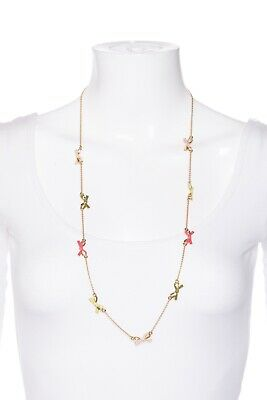 $ CDN41.87 • Buy KATE SPADE Gold Neon Pink Skinny Bow Necklace Fashion Jewelry Long Chain Green